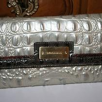 Brahmin Soft Checkbook Wallet Mother of Pearl Tri-Color H65518th Nwt  Photo