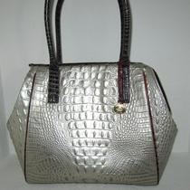Brahmin Taylor Mother of Pearl Tri-Color Gray Brown Leather Satchel Bag Nwt 355 Photo