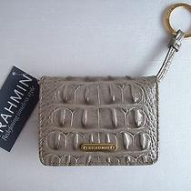Brahmin Travel Mini Key Wallet Glimmer Melbourne Croc Embossed Leather Nwt Photo