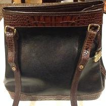 Brahmin Tuscan Black Brown Croc Leather 10