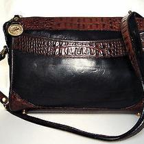 Brahmin Tuscan Black & Croc Embossed Brown Leather Handbag Photo