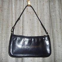 Brahmin Tuscan Black Leather W/brown Croc Inset Bottom & Sides. Euc Photo