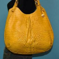 Brahmin Yellow Melbourne Croco Embossed Leather Shoulder Carryall Hobo Purse Bag Photo