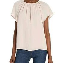 Brand - Lark & Ro Women's Georgette Flutter Short Sleeve Blush Size  Gr Photo