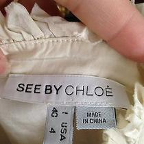 Brand Name Chloe Ivory Ruffle Blouse Photo