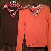 Brand Name Sweater & Blouse 8 Piece Lot Womens Size Medium  Photo