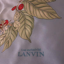 Brand New 1295 Authentic Lanvin Paris 100%Silk Scarf Made in Italy Photo