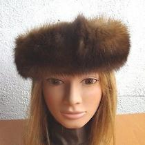 Brand New 2 Individual Natural Sable Fur  Headband Hat Women Woman  Photo