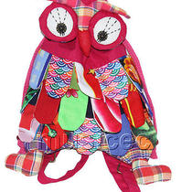 Brand-New 23x33cm Pink-Red Chinese Handmade Flax Owl Bag Purse T612a28 Photo