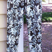Brand New Alexander Wang Aqua Leaf Print Jeans Pants Size 25 (Xs-Sm) Nwt Photo