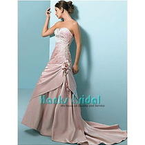 Brand New Alfred Angelo Wedding Dress Style 1640 Size 12 Retails 1900 in Blush Photo