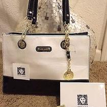 Brand New Anne Klein Ivory / Black Tote Bag & Wallet Set  Free Ship  Photo