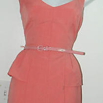 Brand New Arden B Pink Peach Dress With Belt Size Small Photo