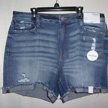 Brand New Arizona Dark Tom Womens Blue Jean Shorts Size 15  Photo