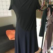 Brand New Authentic Balenciaga Wool Blend Asymmetrical Dress Colorblock Size 38 Photo