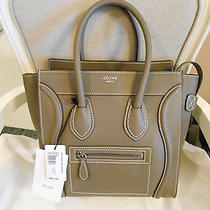 Brand New Authentic Celine Small Micro Grey Luggage Bag Calf Leather Tote  Photo
