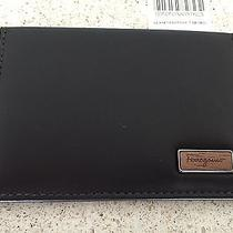 Brand New Authentic Salvatore Ferragamo Brown Leather Credit Card Case Photo