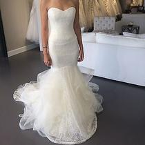 Brand New Authentic Vera Wang Bridal Gown Lillian Wedding Dress Size 6 Free Veil Photo
