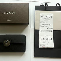 Brand New Authentic Women Gucci Wallet Black Gg Canvas Photo