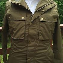 Brand New - Barbour Tape Fly Army Green Rain Jacket -M- Msrp 349 Photo