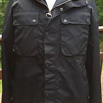 Brand New - Barbour Tape Fly Black Rain Jacket -L- Msrp 349 Photo
