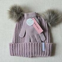 Brand New Bcbg Girls Hat & Gloves Set Girls Winter Accessories Photo