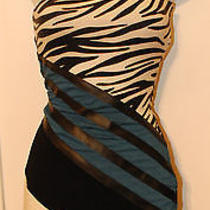 Brand New Bebe Addiction Strapless Color Block Dress- Sold Out Photo