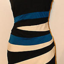 Brand New Bebe Addiction Striped Pop Wave Dress- Sold Out Photo
