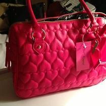 Brand New Betsey Johnson Heart Rubine Heart Be Mine Handbag - Fuscia Photo