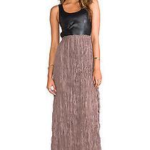 Brand New Blaque Label Leatherette Detailed Backless Dress Medium  Photo