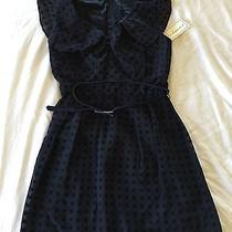 Brand New Blue Polka Dot Dress With Belt Photo