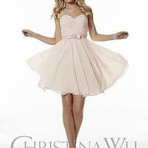 Brand New  Blush Pink Chiffon Dress - Size 10 Photo