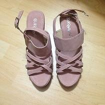 Brand New Blush Pink Wedges Sandals Photo