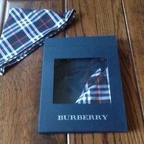 Brand New Burberry Cotton Handkerchief Mini Scarf  Brand-New in Box  Set of Two  Photo