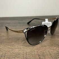 Brand New Bvlgari Sunglasses Bv 6083 20188g Black Gold/gray Gradient for Women Photo
