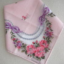 Brand New Christian Dior Flower & Pearl Necklace Handkerchief Photo