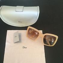 Brand New Christian Dior Sunglasses Frames Nude Blush Ivory  Authentic Photo
