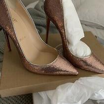 Brand New Christian Louboutin Pink Glitter Pumps Size 40 Photo