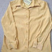 Brand New Classic Elements Button Down Yellow Blouse Ladies Size s(6-8) Photo