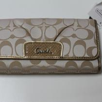 Brand New Coach Ashley Signature Exotic Wallet  Photo