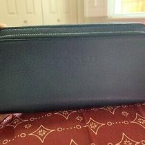 Brand New Coach Blue Wallet Double Zip Photo