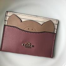 Brand New Coach Cute Pig Cardholder Card Case Photo