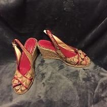 Brand New Coach Monogram Espadrilles Wedge Sandal Photo