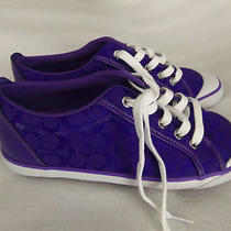 Brand New Coach Shoes Authentic Purple Size 8 1/2 B 8.5 Photo