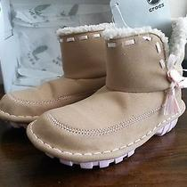 Brand New Crocs Crocasally Girls Suede Boots - Natural/bubblegum Color Size C12 Photo