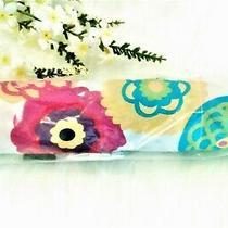 Brand New Cynthia Rowley for Avon Umbrella Floral / Flowers on White Background Photo