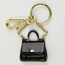 Brand New Dolce & Gabbana Black Bag Motif Key Ring Bag Charm Bi0643 A9500 Photo