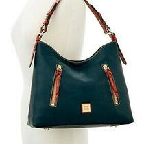 Brand New Dooney & Bourke Pebbled Cooper Hobo Handbag Tote in Black Photo