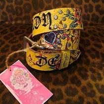 Brand New Ed Hardy Heart Roses & Studs Handmade Genuine Leather Belt  Size Xs  Photo