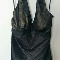Brand New Express Black and Gold Summer Halter Top Size S  Photo